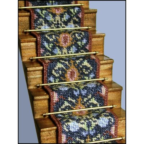 May Blue Dollhouse Needlepoint Staircarpet Kit