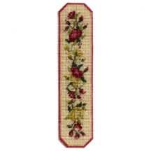 Dollhouse needlepoint table runner kit - Summer Roses