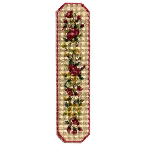 Dollhouse needlepoint table runner kit - Summer Roses