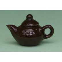 Dollhouse scaleTeapot (brown)