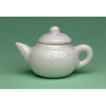 Dollhouse scale teapot (white)