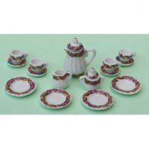 Dollhouse scale tea set (multifloral)