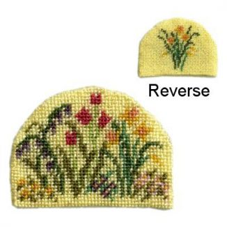 Dollhouse needlepoint teacosy kit - Spring Blooms
