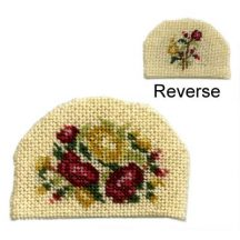 Dollhouse needlepoint teacosy kit - Summer Roses