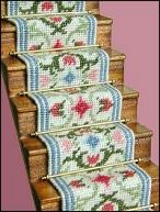 Dollhouse needlepoint staircarpet kits
