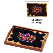 Dollhouse needlepoint tray cloth kit - Berlin Woolwork