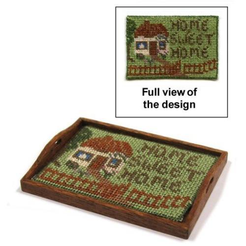 Dollhouse needlepoint tray cloth kit - Cottage