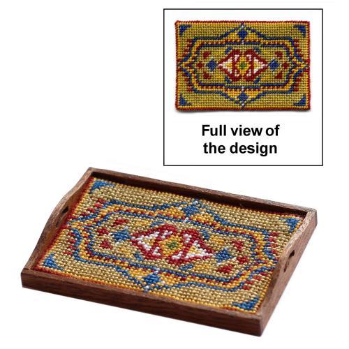 Dollhouse needlepoint tray cloth kit - Elephant Rug