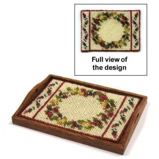 Dollhouse needlepoint tray cloth kit - Summer Roses
