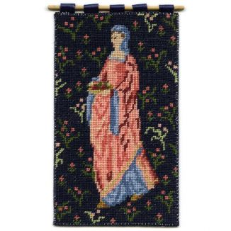Cluny Maid dollhouse needlepoint wallhanging