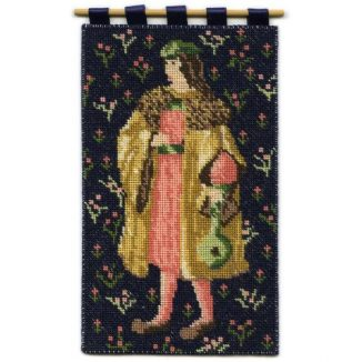 Cluny Merchant dollhouse needlepoint wallhanging