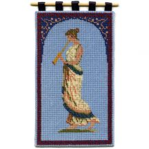 Grecian Musician dollhouse needlepoint wallhanging