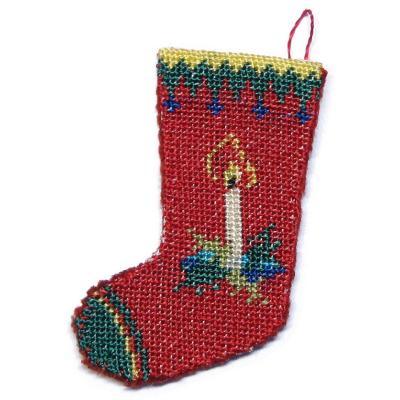 Needlepoint Christmas Stocking Kit.Dollhouse Needlepoint Christmas Stocking Kit Candle