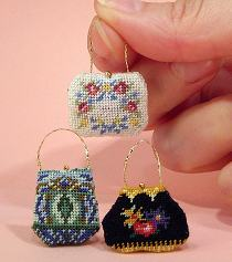 3 dollhouse needlepoint handbags