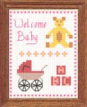 """Welcome Baby"" free dollhouse needlepoint chart"