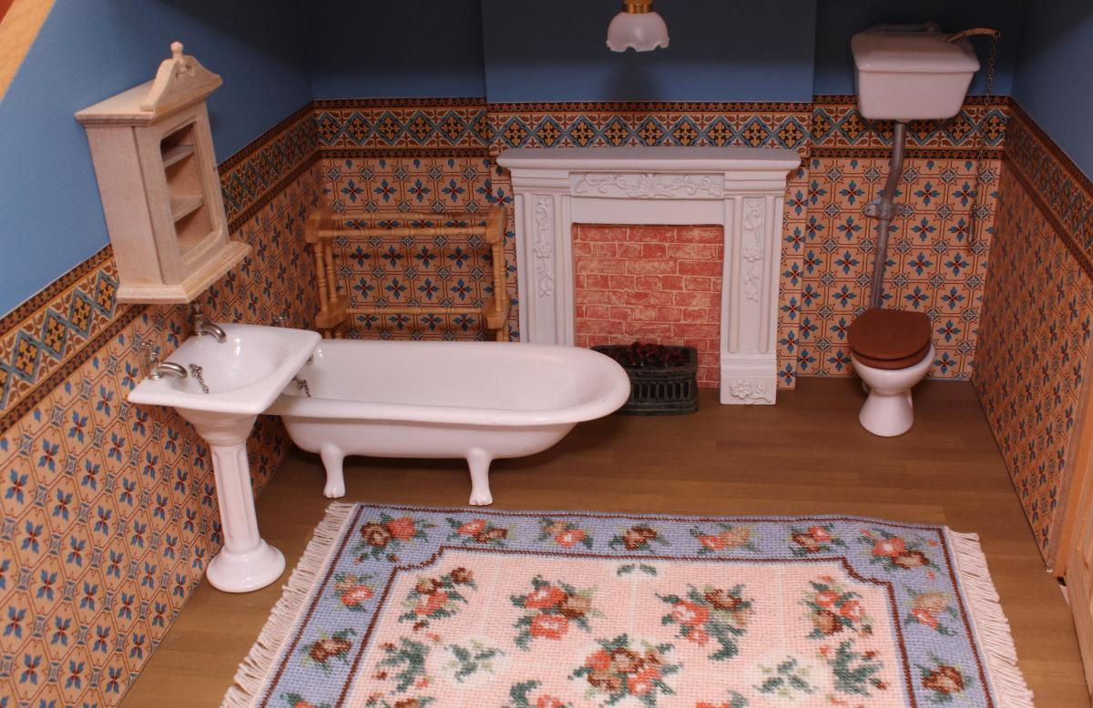 Janet's dollhouse bathroom