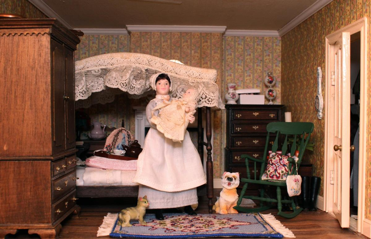 Janet's dollhouse bedroom
