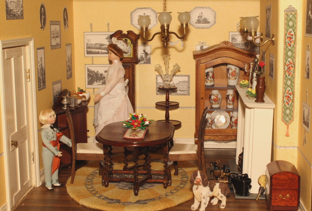 Janet's dollhouse dining room