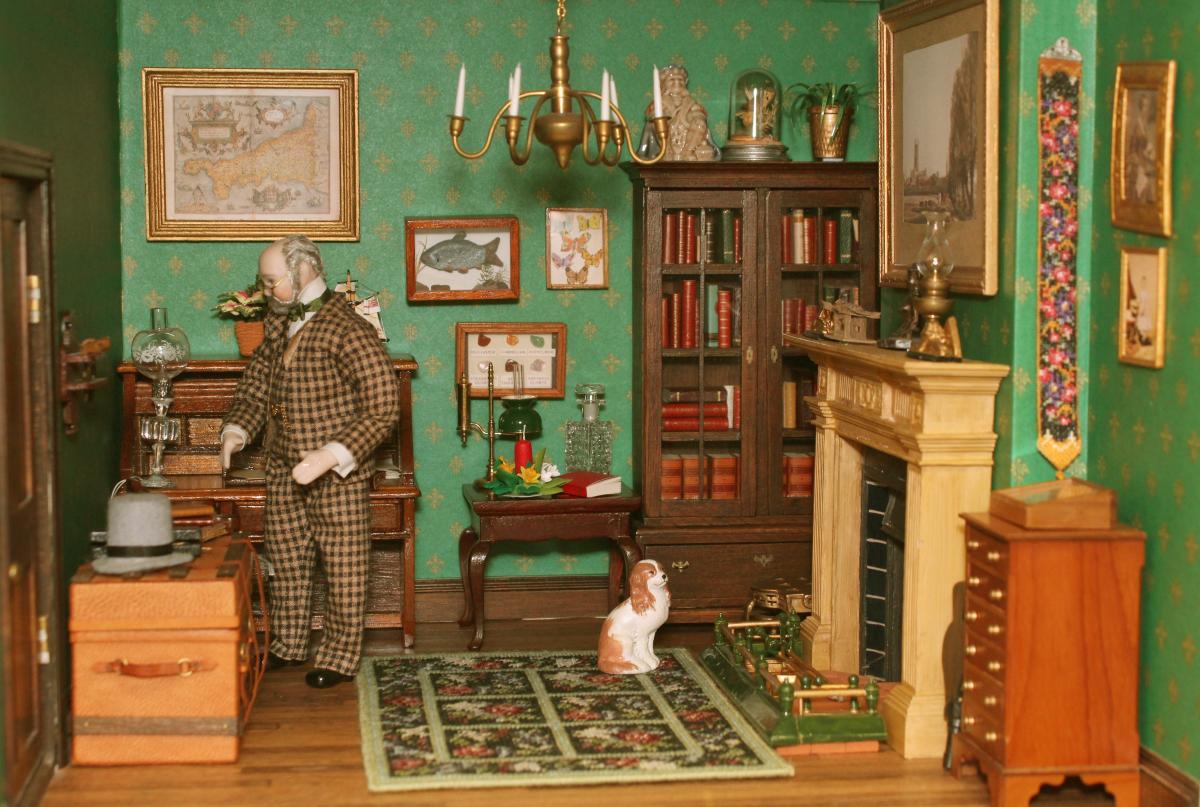 Janet's dollhouse study