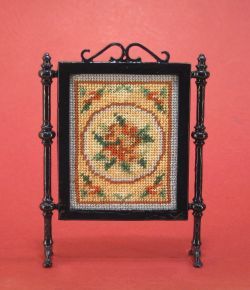 "Dollhouse needlepoint tutorial - the firescreen ""Alice (blue)"""