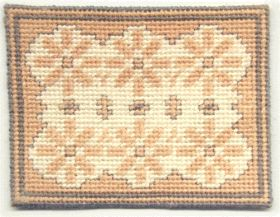 Dollhouse needlepoint rug - Bathmat (adapted)