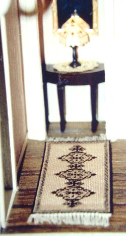Longer runner - stretched Alison design rug