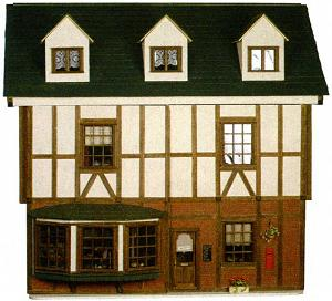 Gill's mock Tudor dollhouse
