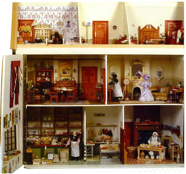 The rooms displayed inside Gill's house