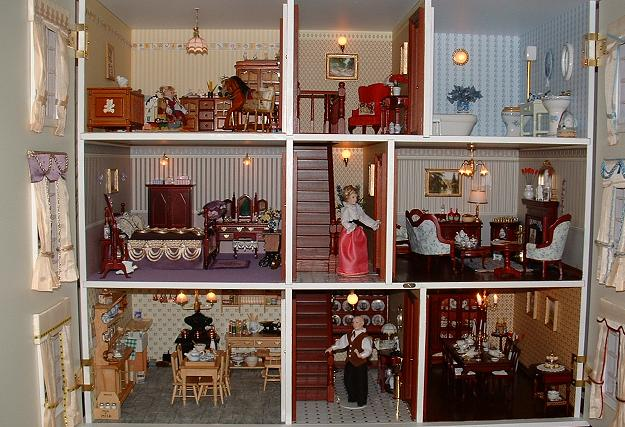 Interior of Joyce's Georgian dollhouse