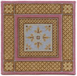 Isobel design dollhouse needlepoint carpet - original size