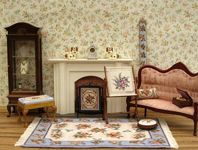 Make a needlework stand - Dollhouse Needlepoint Kits