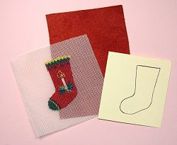 Miniature needlepoint tutorial - A miniature needlepoint Christmas Stocking