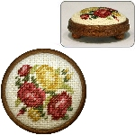 "Dollshouse embroidery footstool kit - ""Summer Roses"""