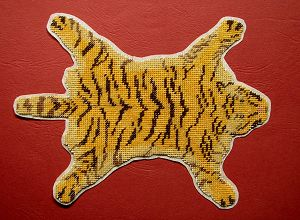 Finished Tigerskin rug