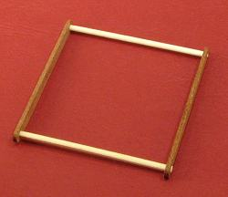 Dollhouse needlepoint tutorial - Temporarily assemble the square frame