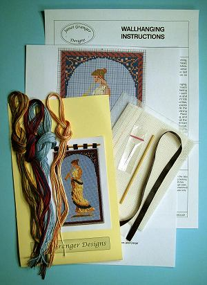 Contents of a wallhanging kit