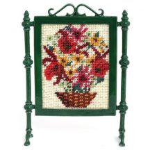 Dollhouse needlepoint firescreen kit: Autumn Harvest