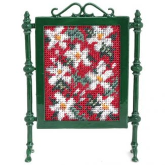 Dollhouse needlepoint firescreen kit: Winter