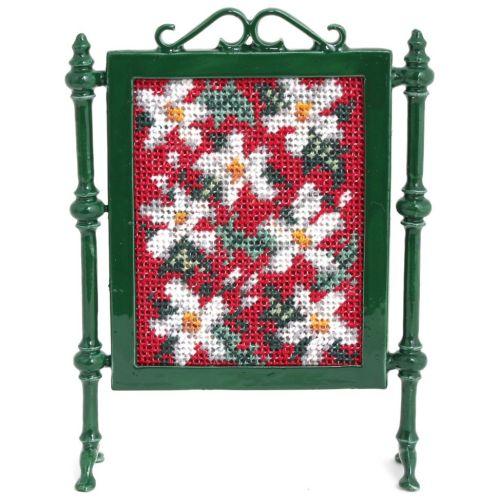 Dollhouse needlepoint firescreen kit: Winter