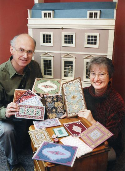 local paper article pic: dollshouse and carpets