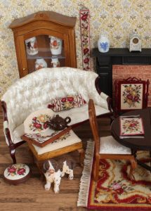 "Dollshouse room with ""summer roses"" kits"