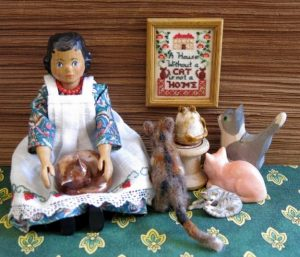 Kjerstin's cat sampler on display