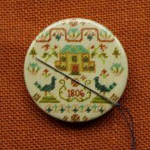 Magnetic needle minder, Pin keep, Peacock