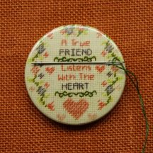 Needle keeper, Needle minder, Embroidery magnet, True friend