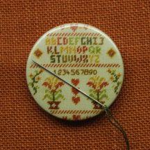 Needle magnet, Cross stitch needle minder, Hearts