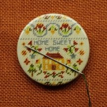 Needle minder, Needle keeper, Needle holder, Home sweet home