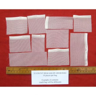 Grab bag 32 count silk gauze pieces for dollhouse needlepoint or jewellery making